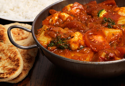 New Ajanta Ebbw Vale hot and spicy chicken balti dish