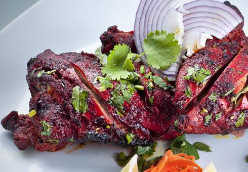 Tender tandoori chicken