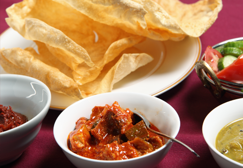 Poppadoms and Chutney at Royal Bengal