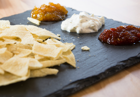 Popadoms with chutney