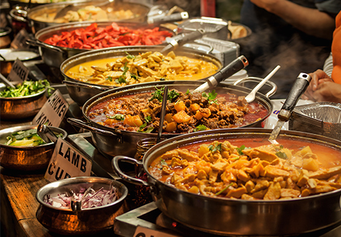 Variety of Indian Dishes. Yaal Restaurant