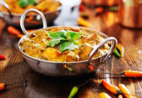 Dining Room Birstall creamy chicken curry dish