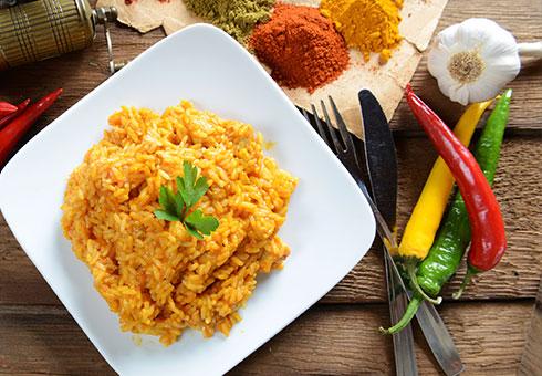 Dining Room Birstall aromatic rice side dish