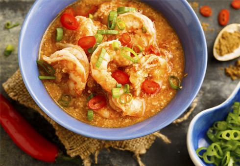 Bombay Blues Westcliff hot and spicy king prawn curry with chillies