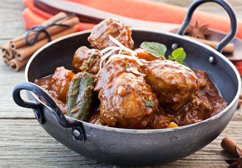 Red Spice Merthyr chicken on the bone balti dish