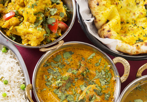 The Shahi Tandoori, curries and rice