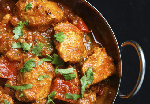 Tasty chicken masala