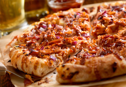 Monsoon Grill Barking BBQ chicken pizza